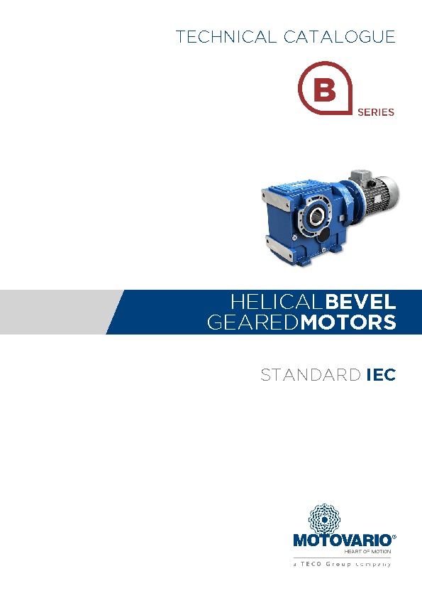 Motovario Bevel Helical Catalogue