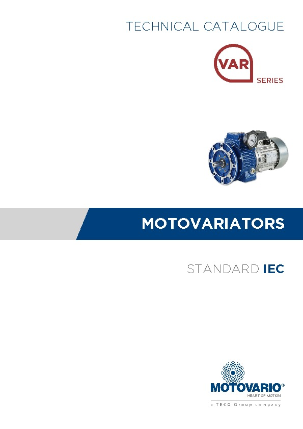 Mechanical Variator Catalogue