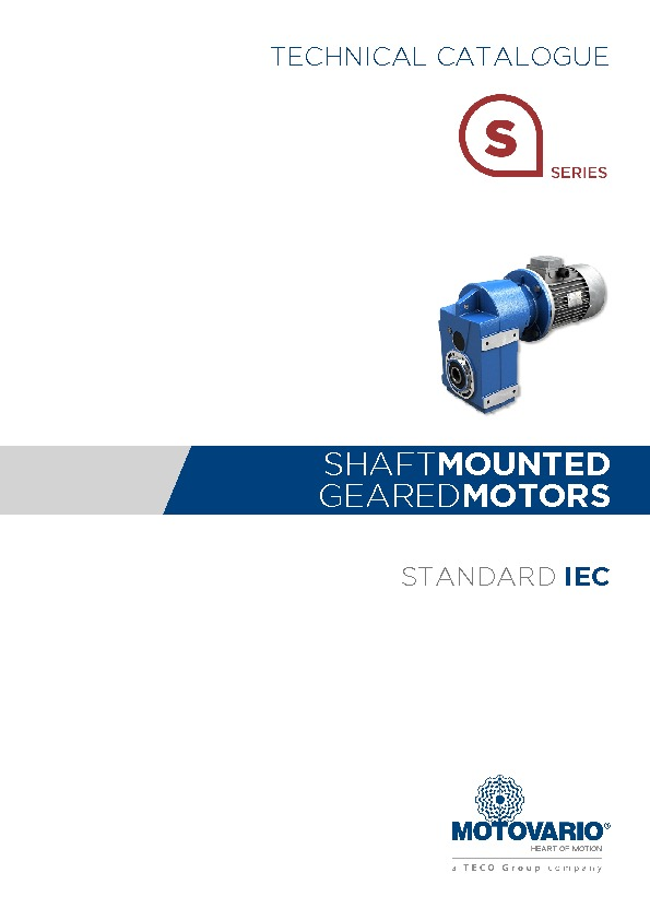 Motovario Shaft Mounted Catalogue