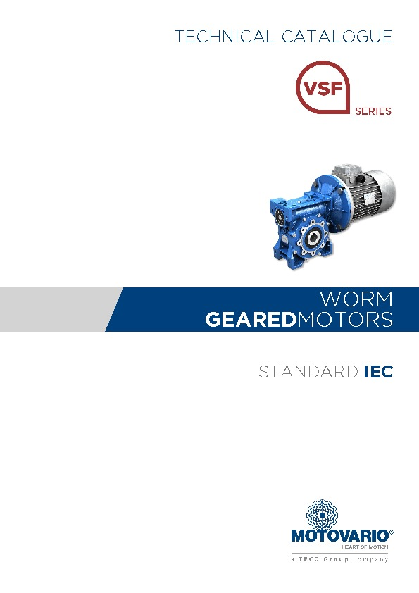 Motovario Worm Catalogue