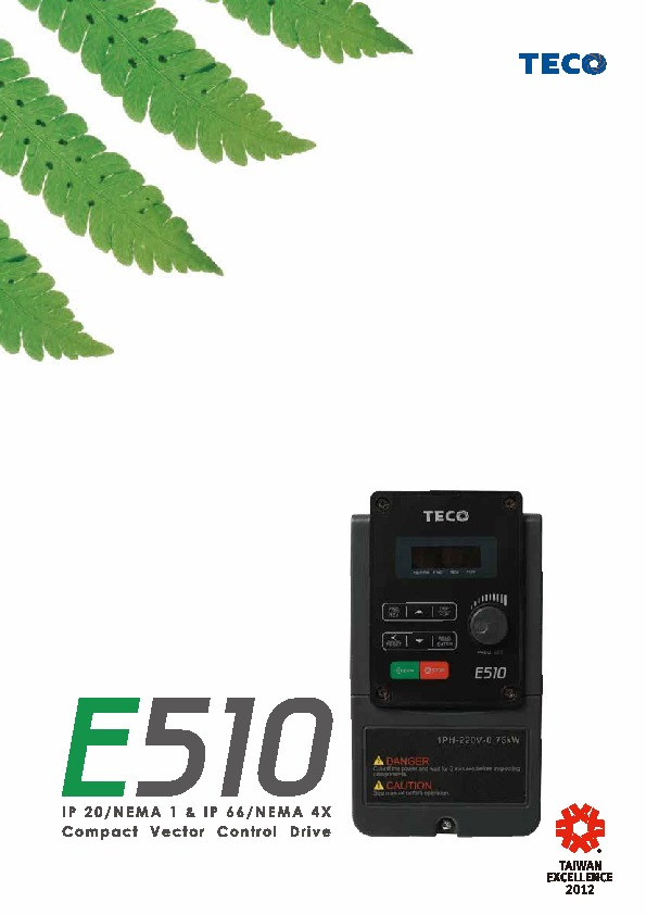 TECO E510 Catalogue