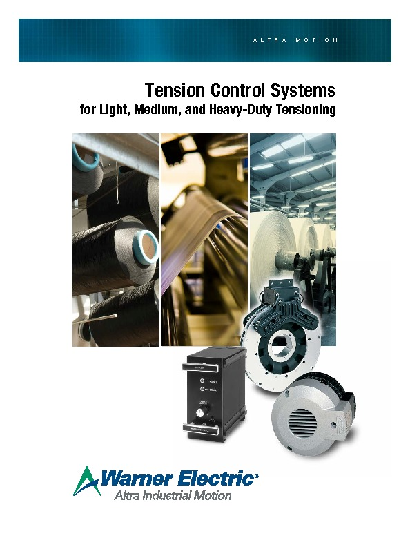 Warner Electric Tension Control Catalogue