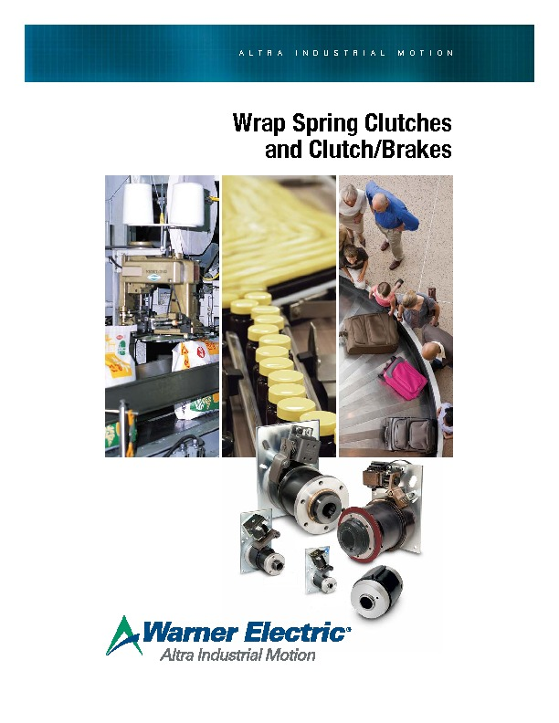 Warner Electric Wrap Spring Catalogue