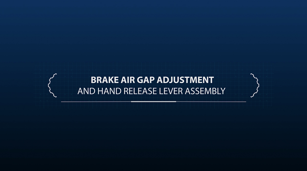 Brake air gap adjustment and hand release lever assembly
