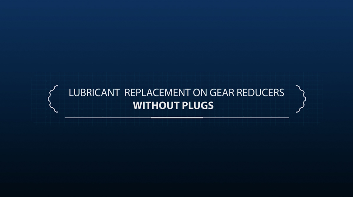 Lubricant replacement on gear reducers without plugs