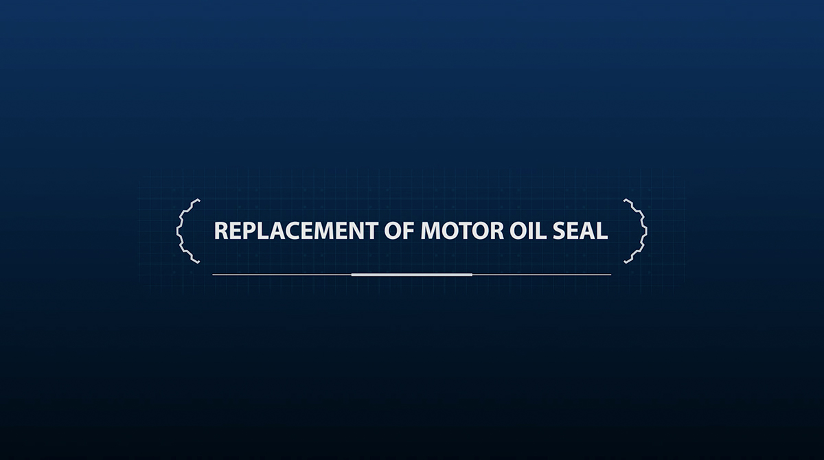 Replacement of motor oil seal